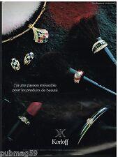 Publicité Advertising 1991 Les Bijoux Korloff