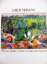 "Leroy Neiman LE Numbered Bookplate ""Hammer Galleries"" Golf Rain Arnold Palmer"