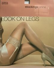 M&S Look On Legs,15 Denier Appearance, Stockings, Shine, Nearly Black, Medium