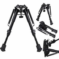 "Adjustable 6"" to 9"" Legs Sniper Hunting Rifle Bipod Sling Swivel Holder Mount MC"