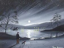 Superb Pete Rumney (Pete The Painter) Original Painting - Out With The Dog