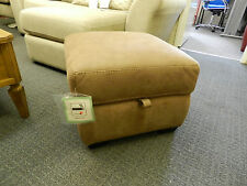 Paloma Brown suede effect Storage Footstool by High Street Store (FV) RRP: £519