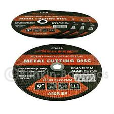 """5 X 9"""" 230MM ANGLE GRINDER GRINDING CUTTER THIN FLAT METAL CUTTING BLADE DISCS"""