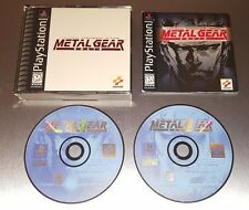 Metal Gear Solid ☆☆ Complete w/ MINT CASE, Fully Tested ☆☆ - PS1 Playstation 1