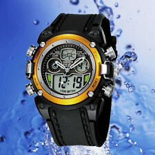 Oshen AD0721 Watch Multifunction Digital & Analogue Water Resistant Sport Gold