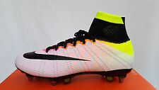 Nike Mercurial Superfly SG-Pro White/Volt/Org (641860 107) Size UK 9 EU 44