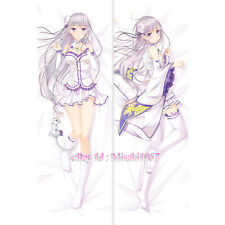 Re:Zero Dakimakura Emilia Anime Girl Hugging Body Pillow Case Cover
