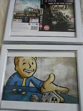 Fallout 3 & new vegas double sided ps3 sleeves Wall mounted Framed