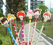 12pcs Prince and Princess Wooden Pencil Kids Boy Girl Party Favor Supply Gift