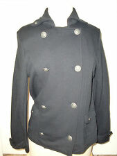 "Women's""TALBOTS""Black Cotton Blends Pockets Button Down  Sweter/Jacket  PM Cute!"