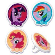 12 My Little Pony Cupcake Cake Decorating Supplies Topper Pops Rings Favors