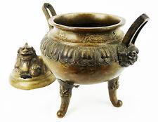 CHINE Ancien brûle parfum en bronze;décor de chimère China Cina antique chinese