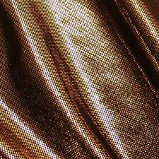 Gold Black Microdot Computer Foil Stretch Fabric P/m