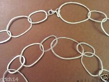 """SILPADA """"BUBBLE UP""""  STERLING SILVER LINKED NECKLACE 38 INCHES N2148"""
