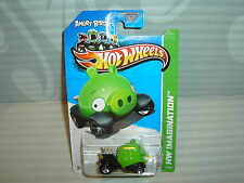 2012 HOT WHEELS ''HW IMAGINATION'' #35 = ANGRY BIRDS  = GREEN MINION PIG  us gfl