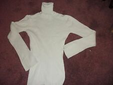 Pale Green Ribbed Polo Neck Jumper Size 10 Next