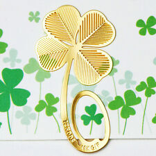 Reading Four-leaf Clover Metal Clip Bookmark Gift Book Mark Kids Gifts