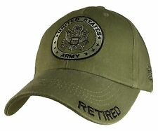 US ARMY RETIRED - U.S. Army with Army Seal Officially Licensed Baseball Cap Hat