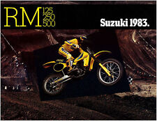 SUZUKI Brochure RM500 RM250 and RM125 1983 Sales Catalog REPRO