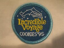 Girl Scout Patch Incredible Voyage Cookies '95 1995 Uniform Patch GS