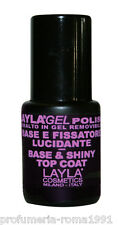 LAYLA GEL POLISH BASE & TOP COAT - Prepara e Lucida lo smalto Semipermanente