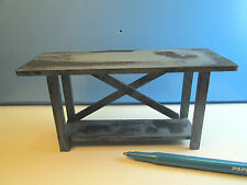 Miniature Rusty n Oil Auto Service Station Work Bench : Dollhouse