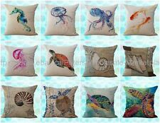 *US SELLER*lot of 10 wholesale cushion covers ocean nautical animal seahorse