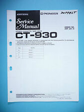 Service-Manual für Pioneer CT-930  ,ORIGINAL
