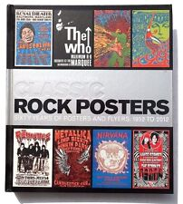 Vtg Classic Rock Posters by Mick Farren, Mike Evans and Dennis Loren Table book