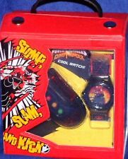 Power Ranger Dino Thunder Watch & Noisemaker with clip set 2003 Factory Sealed