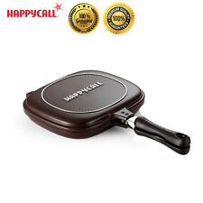 Happycall Non-stick Double Sided Pressure Titanium Loess Frying Pan Skillet New