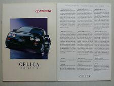Prospekt Toyota Celica 1.8 / 2.0 GT, 2.1996, 16 Seiten + technische Daten für CH