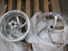 "Polaris Victory Motorcycle Front (21"") and Wide Rear (250/40R18) Billet wheels"