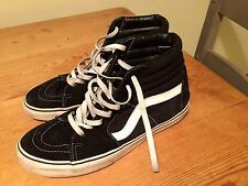 Vans Off The Wall Black Suede High top Trainers Size 10 Men's