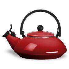 Le Creuset 1.5-Litre (1.6 QT) Whistling Zen Kettle, Cherry Red