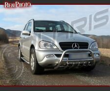 MERCEDES ML MK1 FL 2002-2005 BULL BAR, NUDGE BAR,A BAR +GRATIS!! STAINLESS STEEL