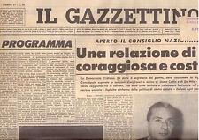 Y5  IL GAZZETTINO N. 27 ANNO 79 DEL 2/2/1965 - RELAZIONE DI RUMOR COSTRUTTIVA