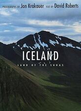 Iceland : Land of the Sagas by David Roberts and Jon Krakauer  (FREE 2DAY SHIP)