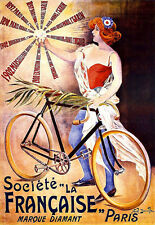 Art Ad French  Bicycle Bike Cycle   Poster Print