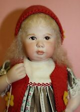 """MAREE MASSEY ALMOST REAL PORCELAIN DOLL  -   8.5""""  RED RIDING HOOD  *NEW*"""