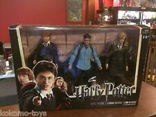 2010 NECA Harry Potter Deathly Hollows Harry Ron Hermione 3 Pack Box Set MIB