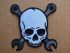 ECUSSON PATCH THERMOCOLLANT SKULL BONES OUTILS usa biker trike / 7.8 x 7.5cm