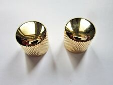 Ibanez Dome Metal Control Knobs in Gold (Snap On Type)