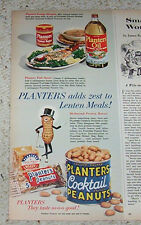 1960 print ad - Planters Nuts crackers Mr. Peanut butter cooking oil Vintage AD