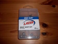 Eagle Claw 25 Piece Drop Shot Weights & Hooks Kit w/ Tackle Box Included - NEW!