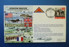 1994 OPERATION DRAGOON INVASION SOUTHERN FRANCE FDC SIGNED BY LORD ABBOTS HAY