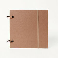 Square Sketch book Removable Ring bound Notebook Thick kraft cover Journal