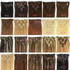 """New 15""""18""""20""""22""""24""""26""""28""""7PCS Clip in Remy human hair extensions Straight70-120g"""