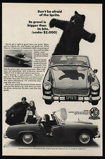 1966 AUSTIN HEALEY - MG SPRITE Convertible Sports Car - Bear - VINTAGE AD