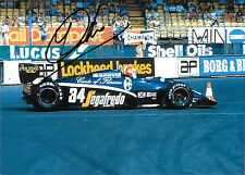 Johnny Cecotto SIGNED F1 Theodore N183 , British GP  Silverstone 1983